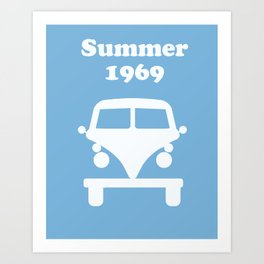 Summer 1969 -  lt. blue Art Print