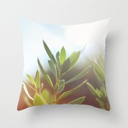 O l i v e . T r e e Throw Pillow