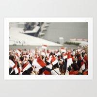 patriotic Art Prints featuring Patriotic by Seng Jueh