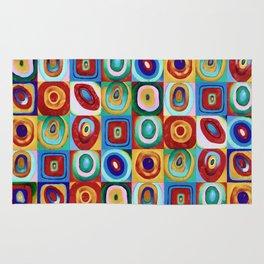 Colorful circles tile Rug