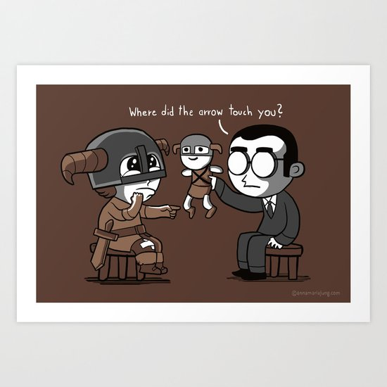 Knee Trouble Art Print