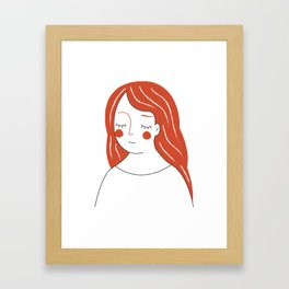 Red Haired Woman Framed Art Print