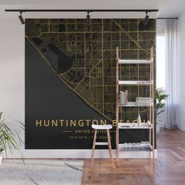 Huntington Beach, United States - Gold Wall Mural