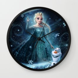Wanna build a snowman? Wall Clock