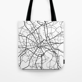 COLOGNE GERMANY BLACK CITY STREET MAP ART Tote Bag