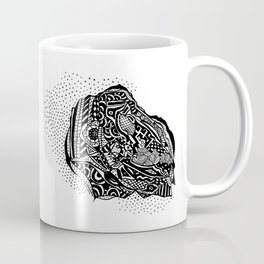 Hong Kong Dim Sum Wonton Doodle in BW Coffee Mug