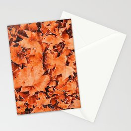 Autumnal leaves watercolor painting #5 Stationery Cards