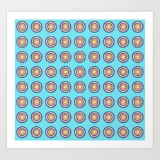 Tania Circle Repeat Art Print