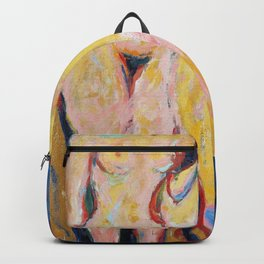 Nudes Standing by Stove - Ernst Ludwig Kirchner Backpack