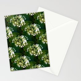 Hills-of-snow hydrangea pattern Stationery Cards