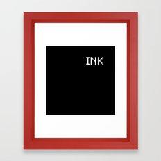 Ink (BLCK #4) Framed Art Print