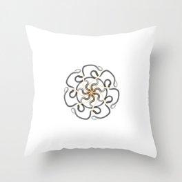 Solar Celtic Snake Mandala Throw Pillow