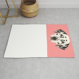 Dalmatian // Pink  Rug