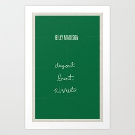 Billy Madison minimalist poster Art Print