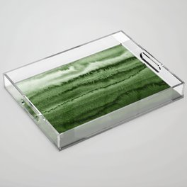 WITHIN THE TIDES FOREST GREEN by Monika Strigel Acrylic Tray