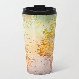 Colorful World Metal Travel Mug