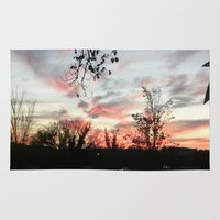 dc Area & Throw Rugs featuring DC Sunset by jordannkest
