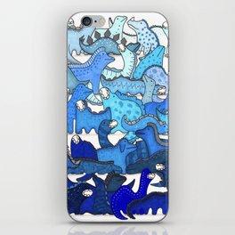 Blue Dinosaur Gradient iPhone Skin