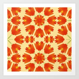 Colorful Floral Print Vector Style Art Print