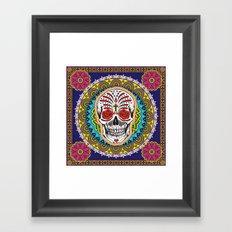 Day of the Dead Skull Framed Art Print