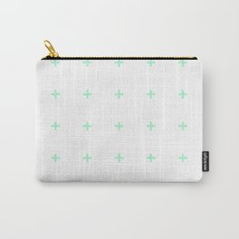 PLUS ((seafoam green on white)) Carry-All Pouch
