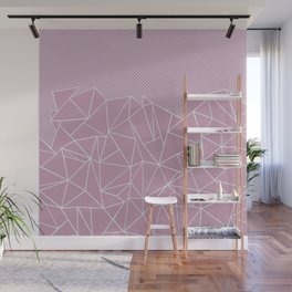 Ab Lines 45 Pink Wall Mural