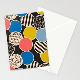Memphis Inspired Pattern 6 Stationery Cards