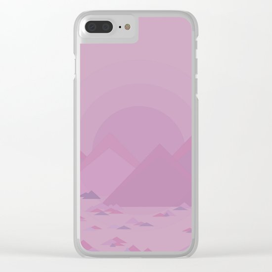 The lilac hills Clear iPhone Case