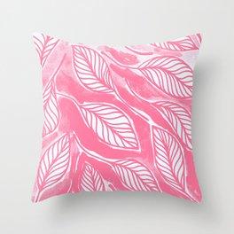 Romantic leaves Throw Pillow