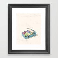 Preparing luggage Framed Art Print