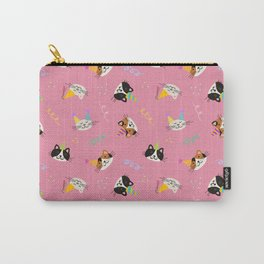 Cat Purr-tay! // Pink Carry-All Pouch