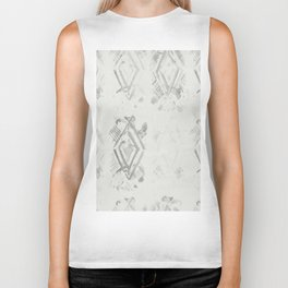 Simply Ikat Ink in Lunar Gray Biker Tank