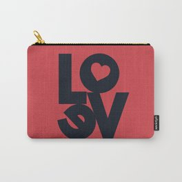 Love illustration, wall art, gift for couples, present for him, for her, Valentine's Day Carry-All Pouch