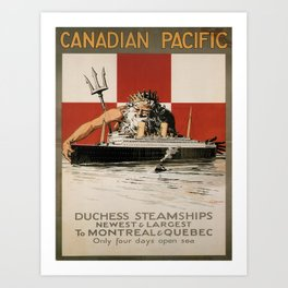 Vintage poster - Canadian Pacific Cruises Art Print