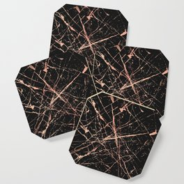 Copper Splatter 091 Coaster