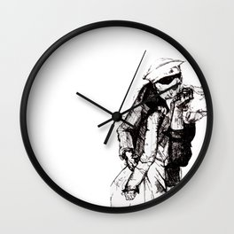 Off-Centered Kiss Wall Clock
