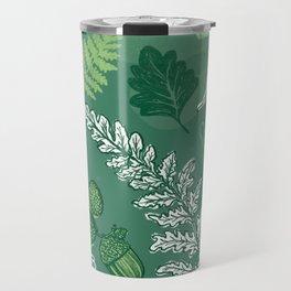 Green leaves Travel Mug