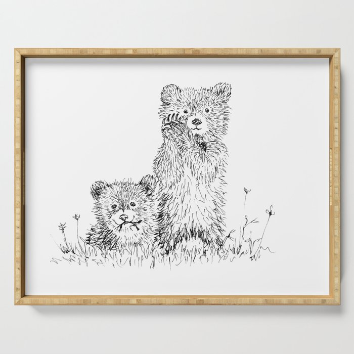 Bear Cubs Serving Tray