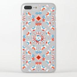 Lovebird Lattice Clear iPhone Case