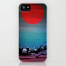 Red Moon iPhone Case