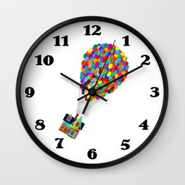Up in the Clouds Balloons Adventure is out Theresa Wall Clock