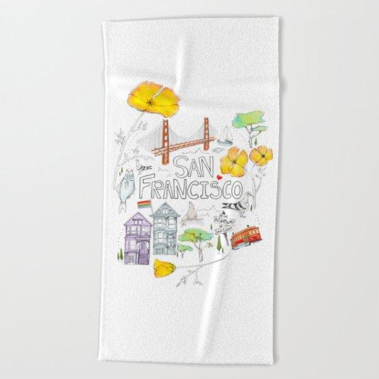 Friends + Neighbors : San Francisco Beach Towel