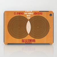 reservoir dogs iPad Cases featuring Reservoir Dogs - Venn Diagram : Stuck in the Middle with you by Chubbybuddhist