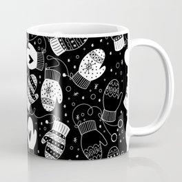 Winter Mittens Black & White Coffee Mug