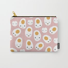 Kawaii baked eggs for breakfast Carry-All Pouch