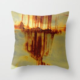 Rusting Down Throw Pillow