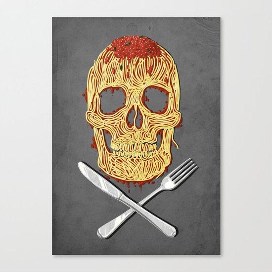 Spaghetti Skull Canvas Print