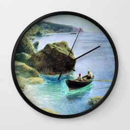 Simeiz 1899 By Lev Lagorio | Reproduction | Russian Romanticism Painter Wall Clock