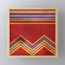 Stripes and Chevrons Ethic Pattern Framed Mini Art Print
