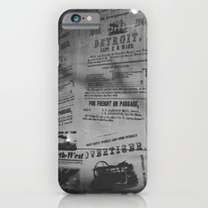 Detroit Newspapers  Slim Case iPhone 6s
